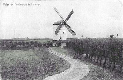 Historical Mill in Huissen, Netherlands.