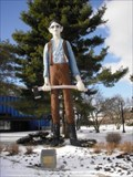 Image for The Railspliter, Abe Lincoln, State Fair Grounds, Springfield, Illinois.