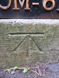 Image for Cut Mark, Mile Stone, Holyhead Road, Llangollen, Denbighshire, Wales, UK