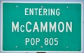 Image for McCammon, Idaho ~ Population 805