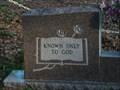 Image for Known Only to God - Riverside Memorial Park - Jacksonville, Florida