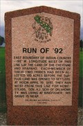 Image for 98th meridian -  '92 historical marker - Kingfisher County, OK