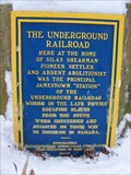 Image for The Underground Railroad - Jamestown, New York