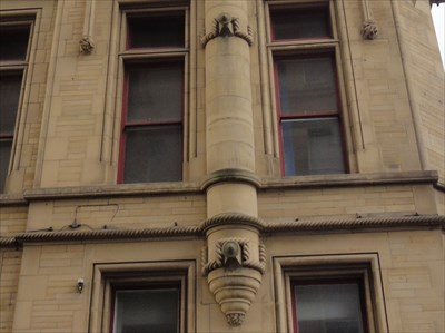 Decorative stone rope work has been included in the flue.