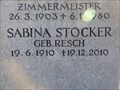 Image for 100 - Sabina Stocker geb. Resch - Prien am Chiemsee, Lk Rosenheim, Bayern, Germany
