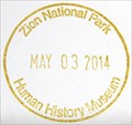 Image for Zion National Park - Human History Museum NPS Stamp - Springdale, UT
