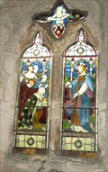 Image for Stained glass window in Kirby Hill Church, North Yorks
