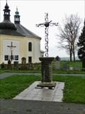 Image for Cross beside Pilgrimage Church, Stary Hroznatov, Czech Republic