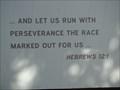 Image for Hebrews 12:1 (The Bible) - OC Eagle Trail - Edmond, OK