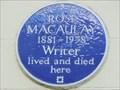 Image for Rose Macaulay - Hinde Street, London, UK