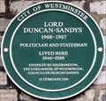 Image for Lord Duncan-Sandys - Vincent Square, London, UK