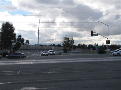 Looking South towards the I-880 Entrance-Exit, Milpitas, CA