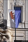 Image for Beroun - municipal flag in the front of Town Hall (Beroun, Central Bohemia)