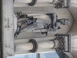 Image for Monarchs – King Edward I of England on side of city hall - Bradford, UK
