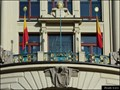 Image for Prague - municipal flag on New City Hall (Prague, Czech Republic)