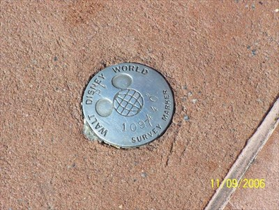 Close up of WDW survey marker #109.440.