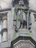 Image for Monarchs – King Richard I of England on side of city hall - Bradford, UK