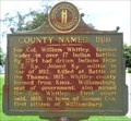 Image for County Named,1818 - 1067 - Williamsburg, KY