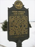 Image for Oyen-Person Log Cabin Marker, rural Baltic, SD
