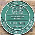 Image for Dr Jabez Bunting - Myddelton Square, London, UK