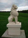 Image for Willen Peace Pagoda lions