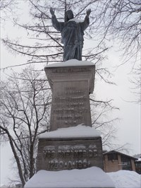 Monument du Sacré-Cœur de Jésus.Monument of the Sacred Heart of Jesus.