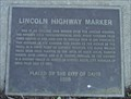 Image for Lincoln Highway Marker in Davis, CA