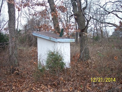 Outhouse at Downey Church, by MountainWoods