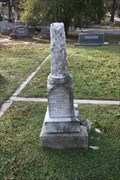 Image for Herbert Thomas Goree -- Oakwood Cem., Huntsville TX