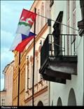 Image for Nový Jicín - municipal flag on Town Hall / mestská vlajka na radnici (North Moravia)