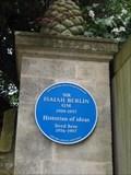 Image for Sir Isaiah Berlin O.M. - Headington - Oxon