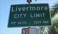 Image for Livermore, CA - Population: 80,723
