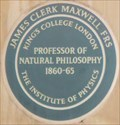 Image for James Clerk Maxwell FRS - King's Campus, Strand, London, UK
