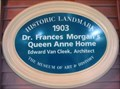 Image for Blue Plaque: Dr. Frances Morgan's Queen Anne Home