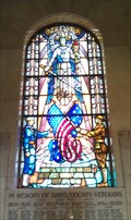 Image for Davis County Courthouse War Memorial Stained Glass - Farmington, Utah