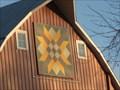 Image for Woven Ribbon Star – rural Hamlin, IA