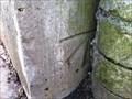 Image for Cut Benchmark with Bolt on Market Place Railway Bridge, Shifnal, Shropshire