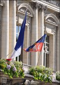 Image for Tours - municipal flag on Town hall (Tours - France)