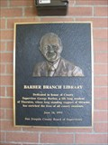 Image for Barber Branch Library Plaque - Thornton, CA