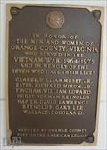 Image for Vietnam War Memorial, Orange County Courthouse, Orange VA, USA