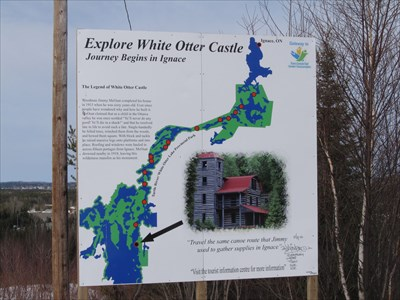 "The information sign at the view point tells about White Otter Castle.  The ""Castle"" is not actually visible from the viewpoint, but is a well-known local attraction."