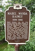 Image for Mabel Wanda Raimey Historical Marker