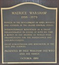 Image for Maurice Warshaw