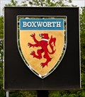 Image for Boxworth - Cambridgeshire Village Sign