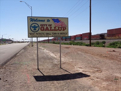 Welcome Sign - Gallop, New Mexico, 6,512 Feet.