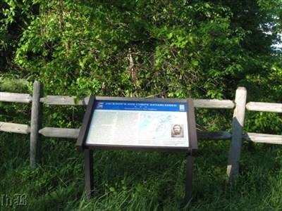 CWDT marker at Massenutten Mountain where Stonewall Jackson stopped to rest on the march from the valley to Fredericksburg.