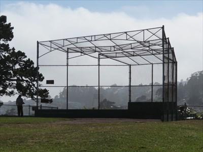 Backstop from Left Field, San Francisco, California