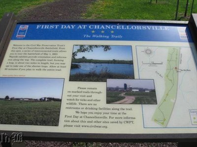 [The Walking Trails] - A series of interlocking trails guides one through the 1st Day of Chancellorsville Battlefield.