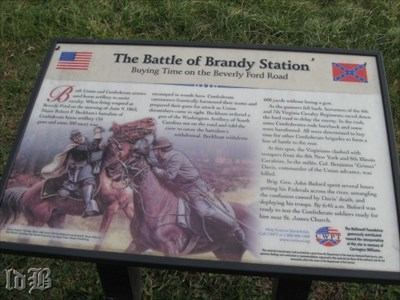 Buying Time on the Beverly Ford Road - Confederate soldiers scrambled out of sleep to meet the Union advance and delay them. Col. Grimes Davis, who was leading the Fed soldiers was killed.