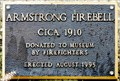 Image for Armstrong Fire Bell Plaque - Armstrong, BC